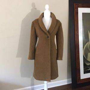 St. John Long Cashmere and Wool Winter Overcoat